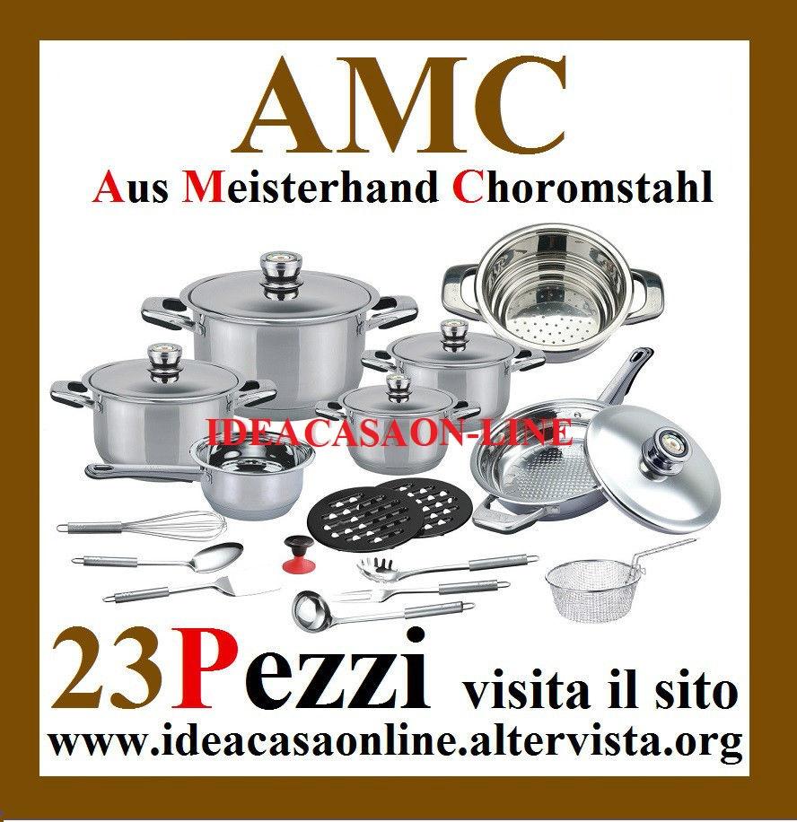 BATTERIA DI PENTOLE AMC 23 PEZZI - IDEACASAONLINE